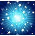 Sun Rays And Stars vector image