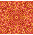 Seamless orange floral wallpaper vector image vector image