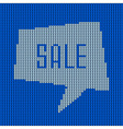 Blue Knitted Sale Bubble vector image