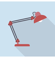 Flat table lamp vector image