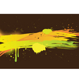 watercolor abstract on dark background vector image vector image