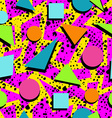 Retro 80s seamless pattern background vector image
