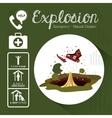 natural disaster design vector image