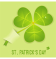 st patricks clover vector image vector image