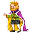 King wearing purple robe vector image vector image