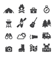 camping icon vector image