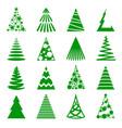 christmas trees icon set vector image