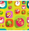 colorful flat christmas seamless background vector image