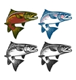 Fishing emblems labels and design elements vector image