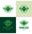 four leaf clover icon and logo vector image