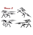 Powerful and freedom stallions vector image