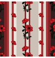 Seamless floral pattern with poppies vector image