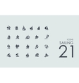 Set of sailing icons vector image