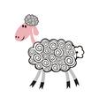 Sheep pattern vector image