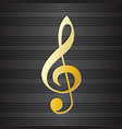 treble clef on music staff background vector image
