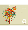 Sustainable life tree vector image vector image
