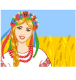 Young woman in ukrainian clothes vector image vector image