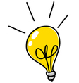 light bulb doodle vector image vector image