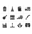 Silhouette Cleaning Industry and environment Icons vector image vector image