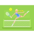 Cartoon character woman tennis player vector image