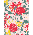 floral astract pattern vector image vector image