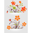 flower mounted in pocket vector image vector image