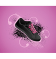 sports shoe background vector image