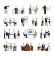 Business Conference Icons Set vector image
