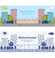 Cityskape doodle baners vector image