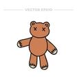 doodle icon teddy bear vector image