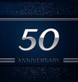 Fifty years anniversary celebration logotype vector image
