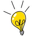 light bulb doodle vector image