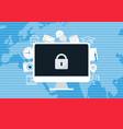 ransomware blocking access to computer data vector image