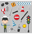 Traffic Policeman vector image
