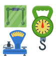 weight measurement instrumentation balance tools vector image