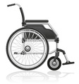 wheelchair 01 vector image
