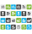 Flat 24 Business office and website icons vector image vector image