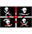 set of pirates flags stencils vector image