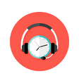 Request Callback Flat Circle Icon vector image