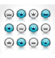 buttons for web with crowns vector image vector image
