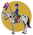 us cavalry yellow vector image vector image