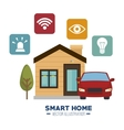 smart house and its applications isolated icon vector image