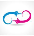 creative hand icon concept vector image