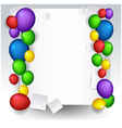 decoration with balloons vector image