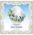 Easter egg 1 vector image