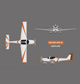 fast sports airplane on gray background vector image