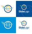 globe and pixels vector image