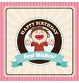 Happy Birthday design kid icon Colorfull graphic vector image