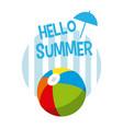 hello summer card concept vector image