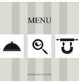 Menu for restaurant vector image
